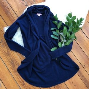 Lilly Pulitzer💕Navy Knit Open Cardigan Sweater XS